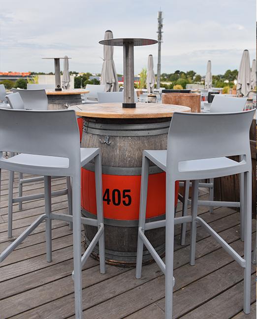 Mange-debout bois / métal Canopée Café