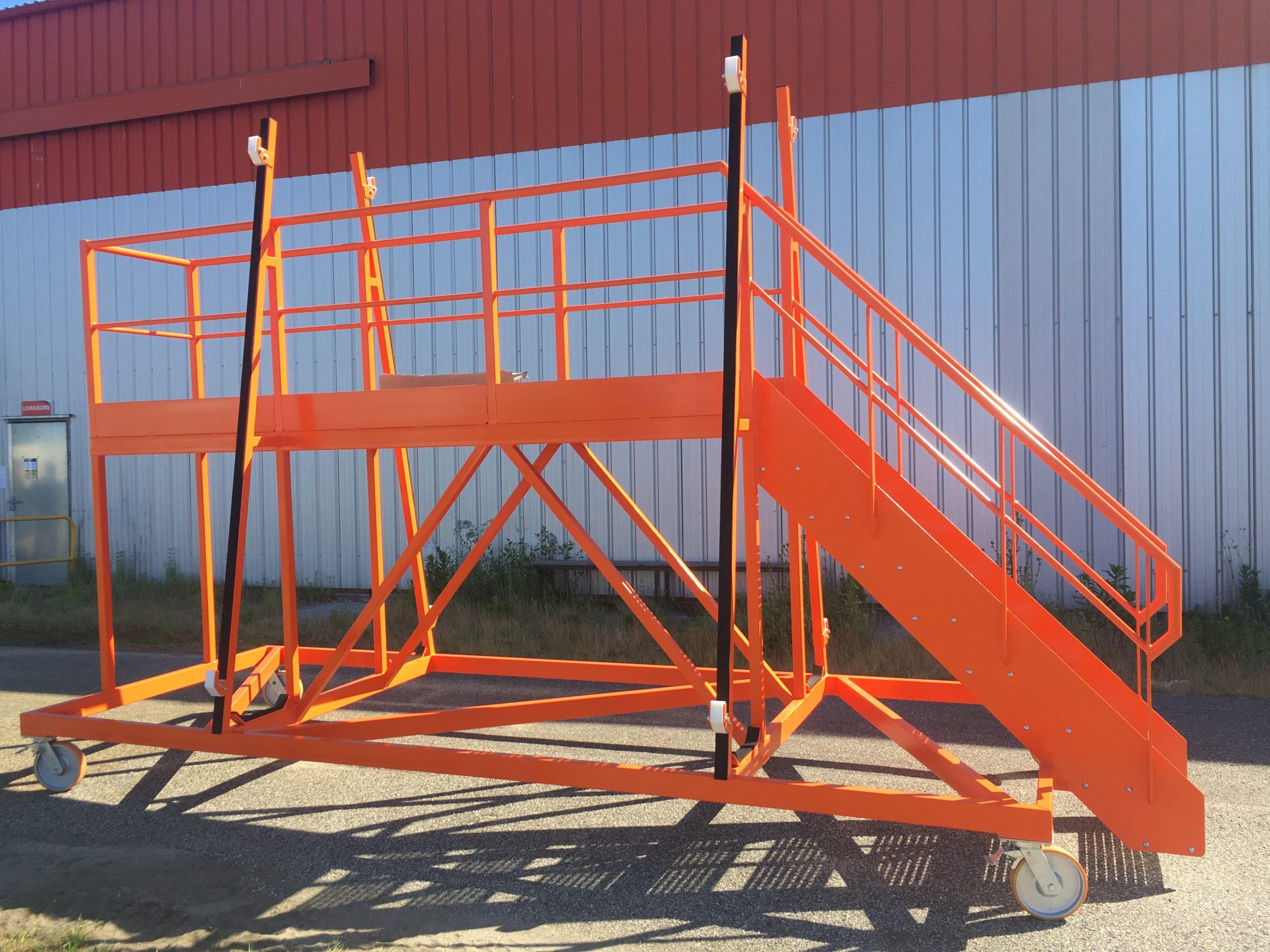 Passerelle pour pièce fuselage avion AIRBUS